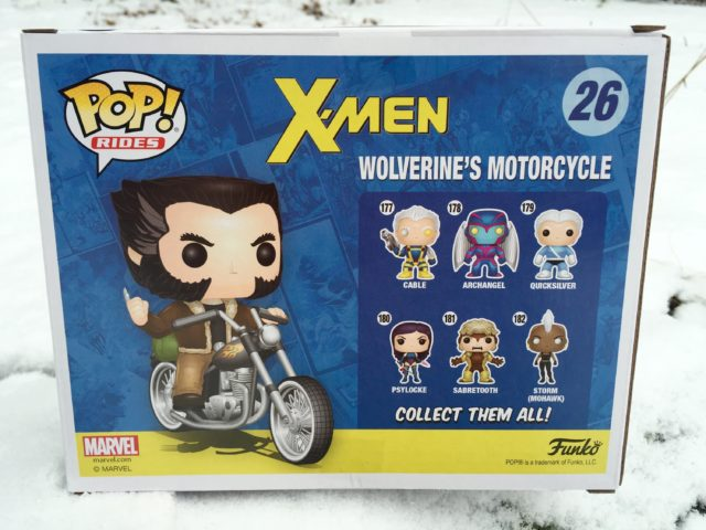 Box Back Marvel X-Men POP Wolverine's Motorcycle Rides