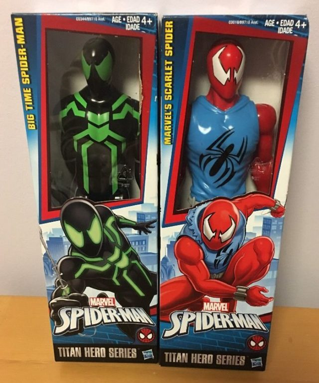 marvel-titan-hero-big-time-spider-man-scarlet-spider-figures