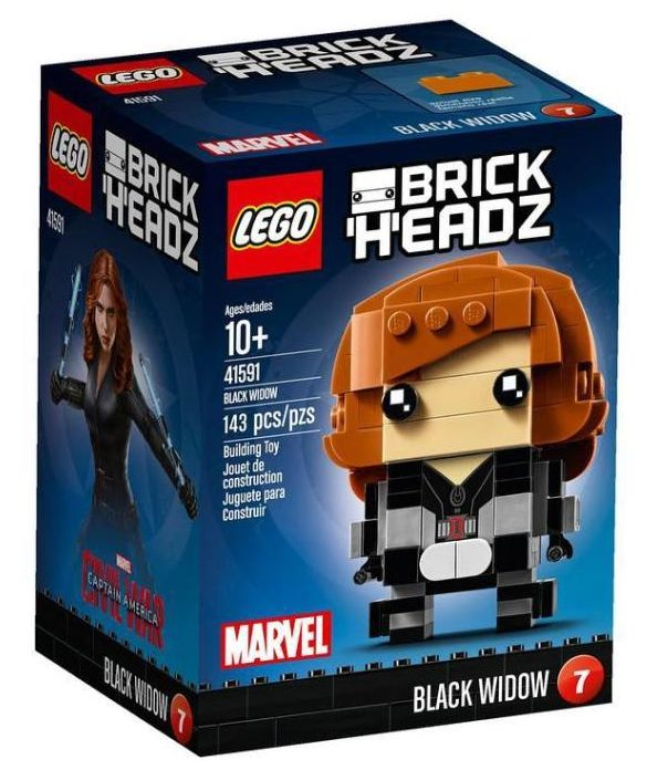 41591 LEGO Black Widow Brick Headz Set Box
