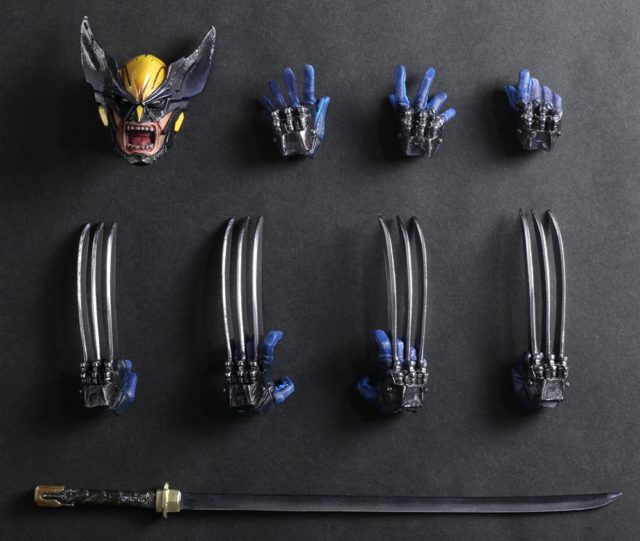 Accessories for Marvel Play Arts Kai Variant Wolverine