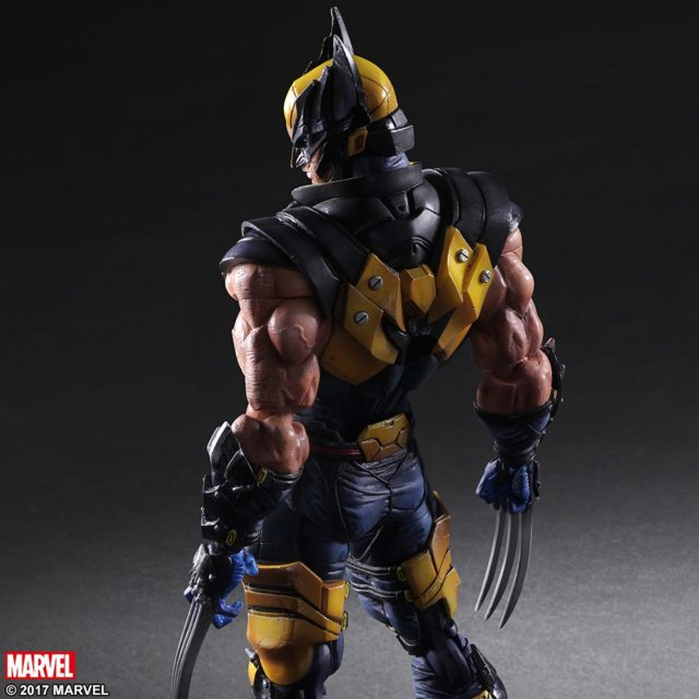 Back of Marvel Play Arts Kai Wolverine Figure