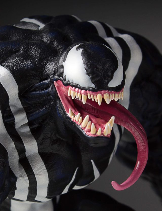 Close-Up of Venom Gentle Giant Statue Head and Tongue