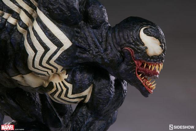 Close-Up of Venom Premium Format Figure 2017 Sideshow Collectibles