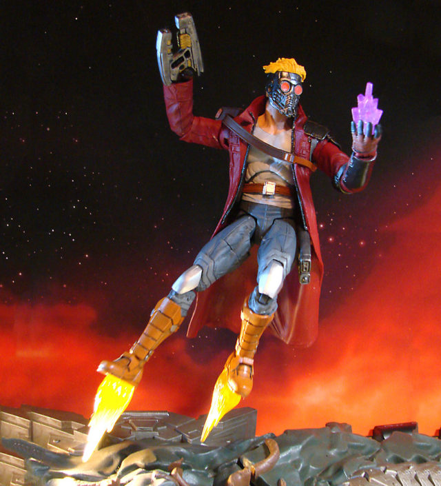 Disney Store Marvel Select Star-Lord Figure with Boot Jet FlamesDisney Store Marvel Select Star-Lord Figure with Boot Jet Flames