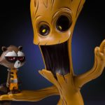 Skottie Young Marvel Babies Animated Rocket & Groot Statue!