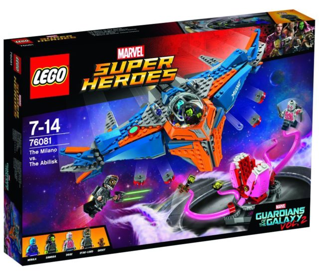 Guardians of the Galaxy 2 LEGO The Milano vs. The Abilisk 76081 Box