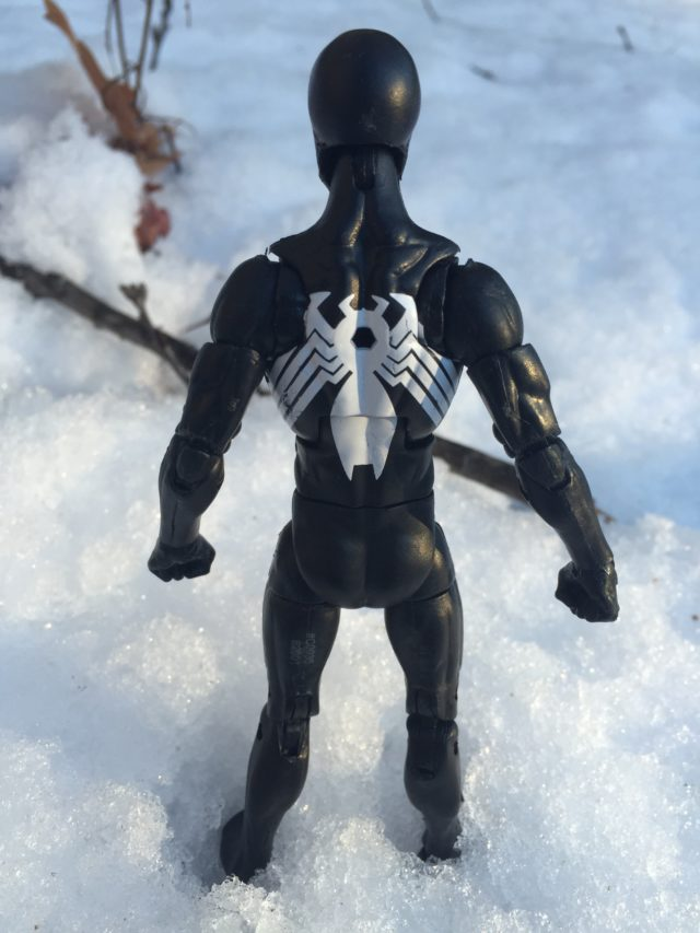 Paint Deco on Back of Hasbro Symbiote Spider-Man Legends Figure