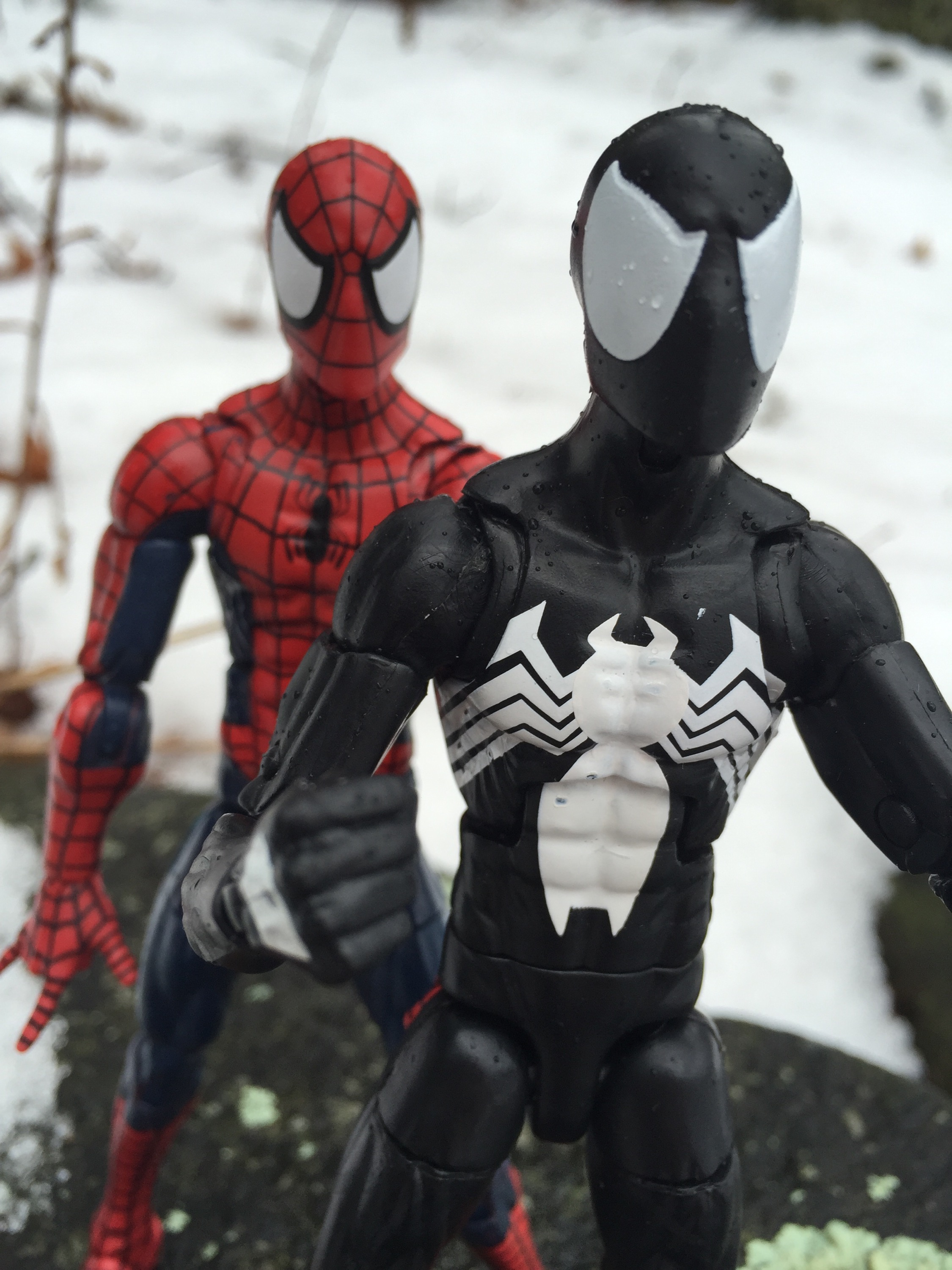 Marvel Legends The Raft Spider-Man vs. Black Costume Spider-Man Comparison & 2017 Marvel Legends Symbiote Spider-Man Figure Review u0026 Photos ...