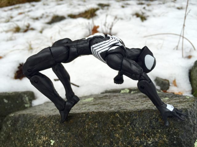 "Marvel Legends 6"" Black Costume Spider-Man Articulation"
