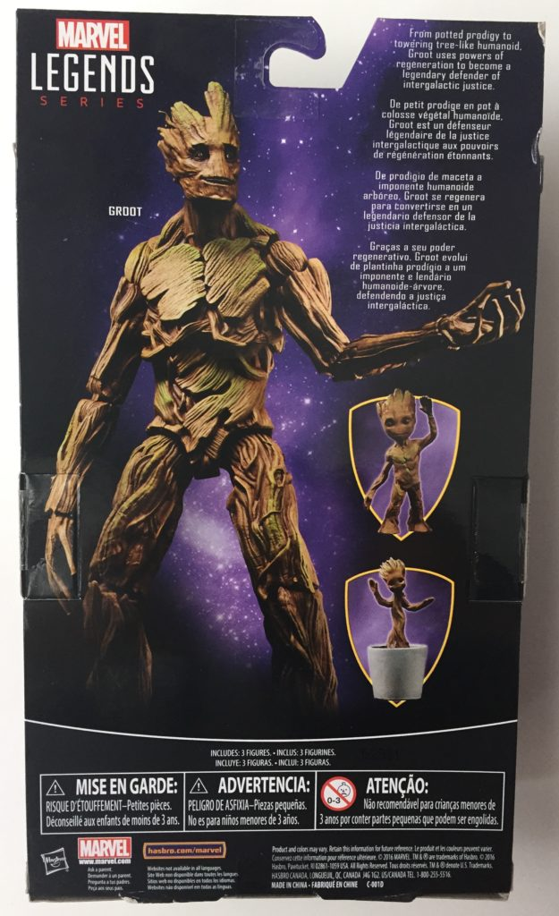 Marvel Legends Guardians of the Galaxy Groot Evolution Figure Set