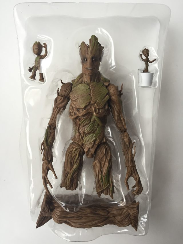 Groot Evolution Exclusive Marvel Legends Figure in Bubble Packaging