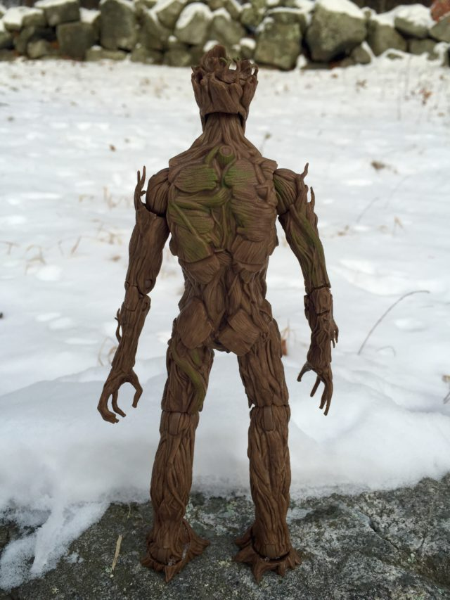 Back of Hasbro Groot Evolution Marvel Legends Figure