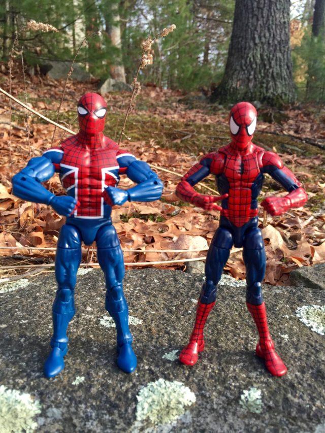 Spider-UK Marvel Legends Comparison with SDCC Raft Spider-Man