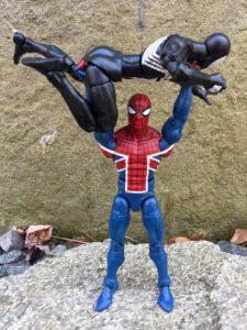 Marvel Legends Spider-Man Spider-UK Benchpresses Symbiote Spider-Man