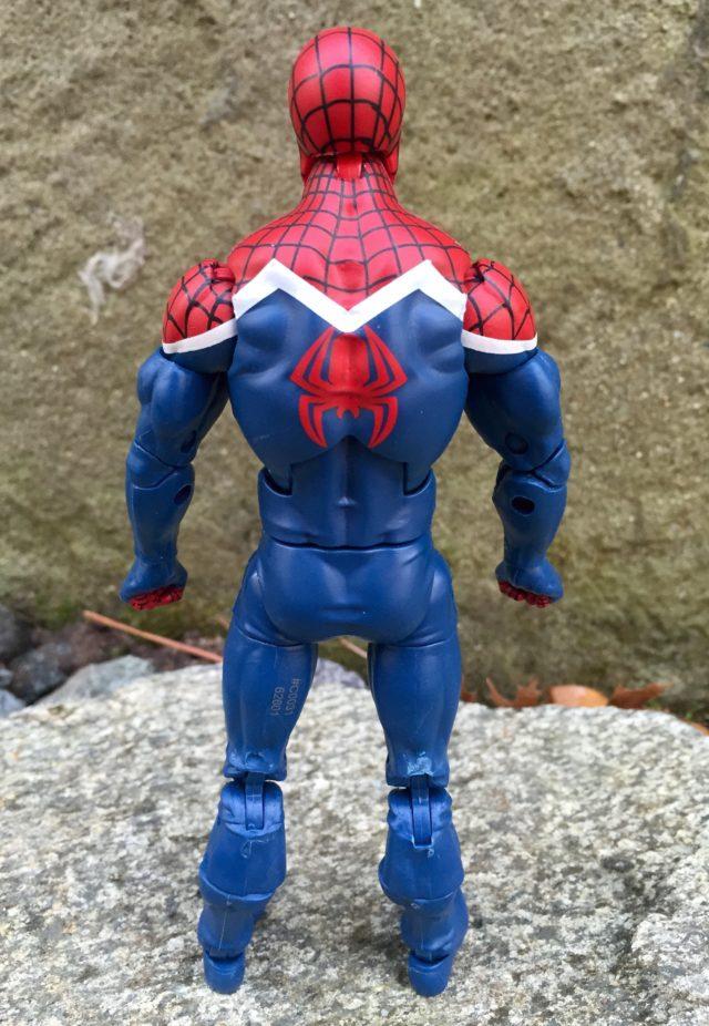 Back of Marvel Legends Spider-Man UK Figure