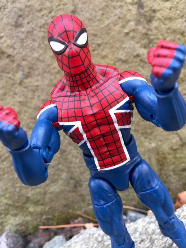 """Close-Up of Spider-UK 6"""" Marvel Legends Action Figure"""