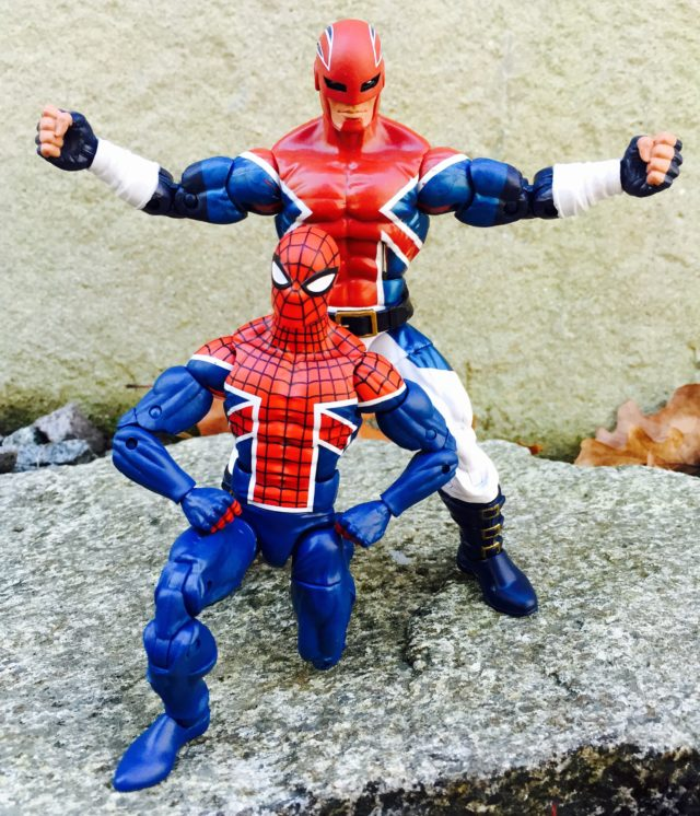 Marvel legends Spider-UK Figure with Captain Britain 6""