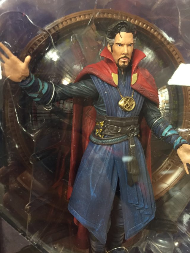 Close-Up of Diamond Select Toys Doctor Strange Figure Movie Version