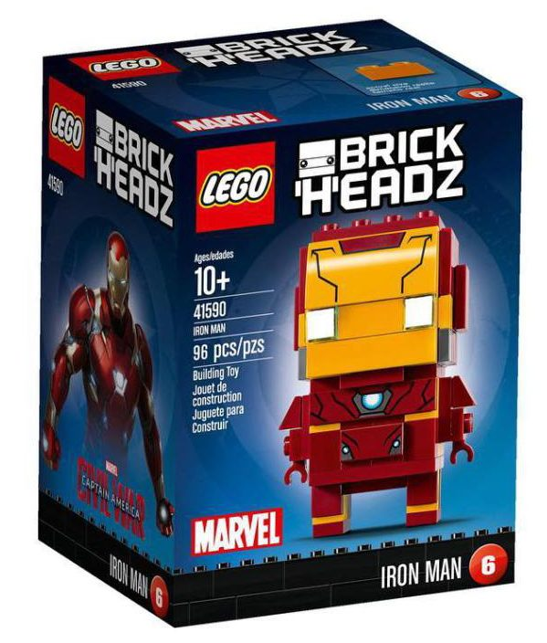 LEGO 41590 Marvel Brick Headz Iron Man Figure Set Box
