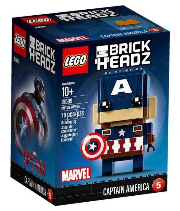 LEGO Brick Headz Captain America 41589 Set Box