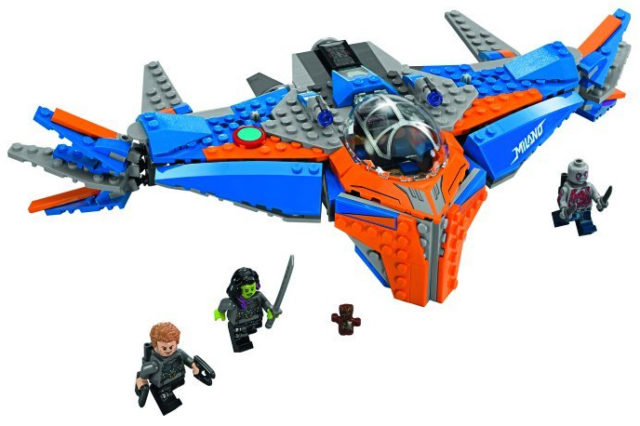 LEGO GOTG 2 The Milano Spaceship and Minifigures