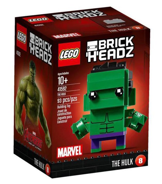 LEGO Marvel Brick Headz Hulk Box