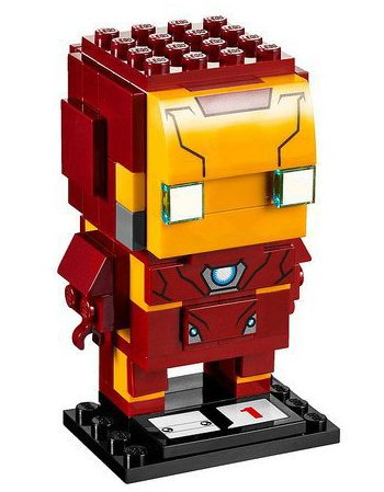LEGO Marvel BrickHeads Iron Man Buildable Figure