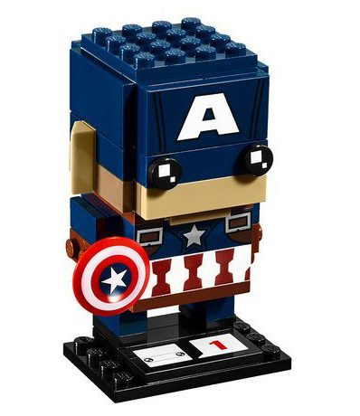 LEGO Marvel Captain America Brick Headz Set