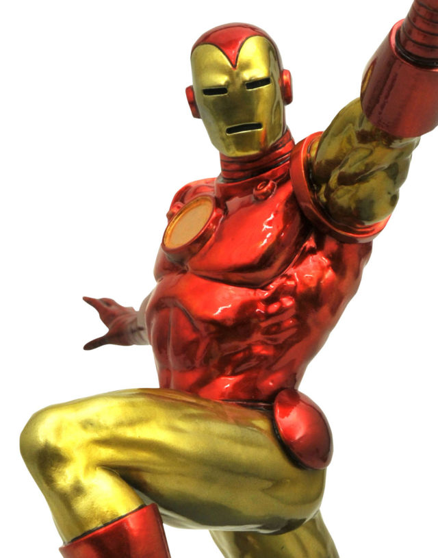Marvel Premier Collection Classic Iron Man Statue Close-Up