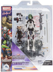 Marvel Select Gamora and Rocket Raccoon Figures Packaged