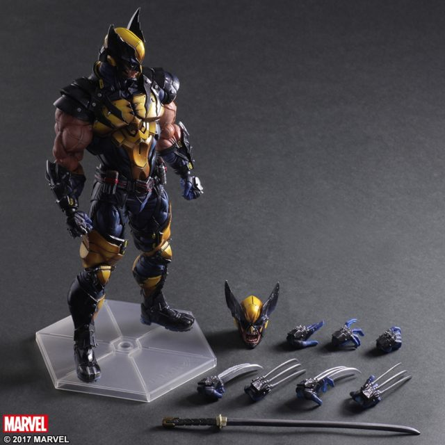 Play Arts Kai Wolverine Action Figure and Accessories
