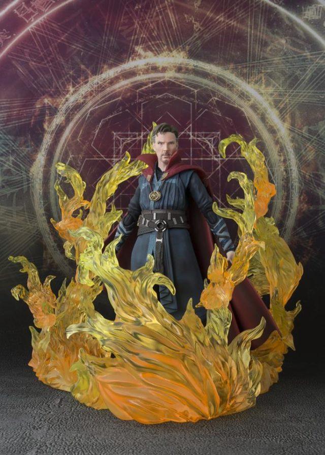 SH Figuarts Doctor Strange Figure with Burning Effects Set