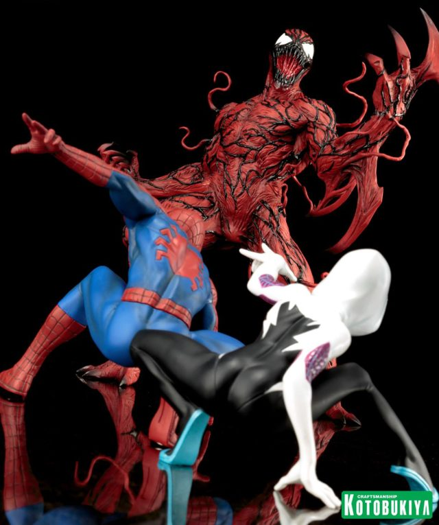 Spider-Man ARTFX+ Carnage Statue Size Comparison with Spider-Gwen