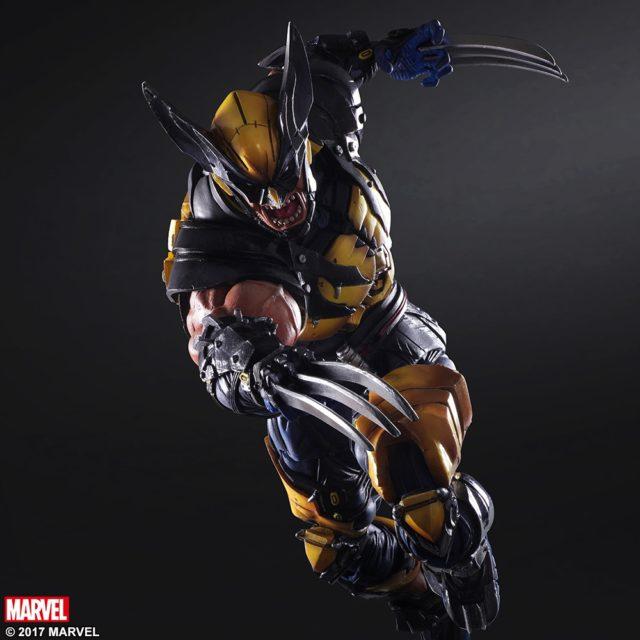 Square-Enix Marvel Play Arts Wolverine Figure Berserker Rage Head