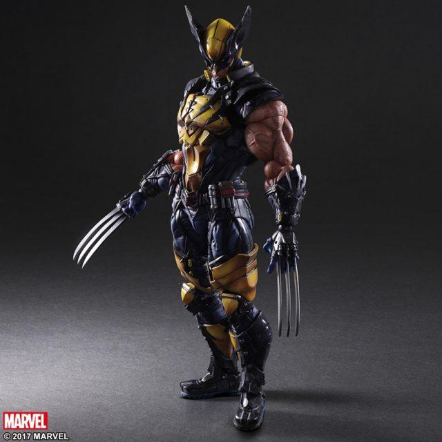 Wolverine Play Arts Kai Marvel Figure Claws