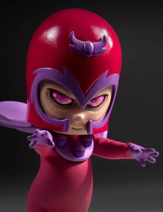 Close-Up of Magneto Skottie Young Marvel Animated Statue