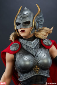 Close-Up of Sideshow Thor Jane Foster Premium Format Figure Statue