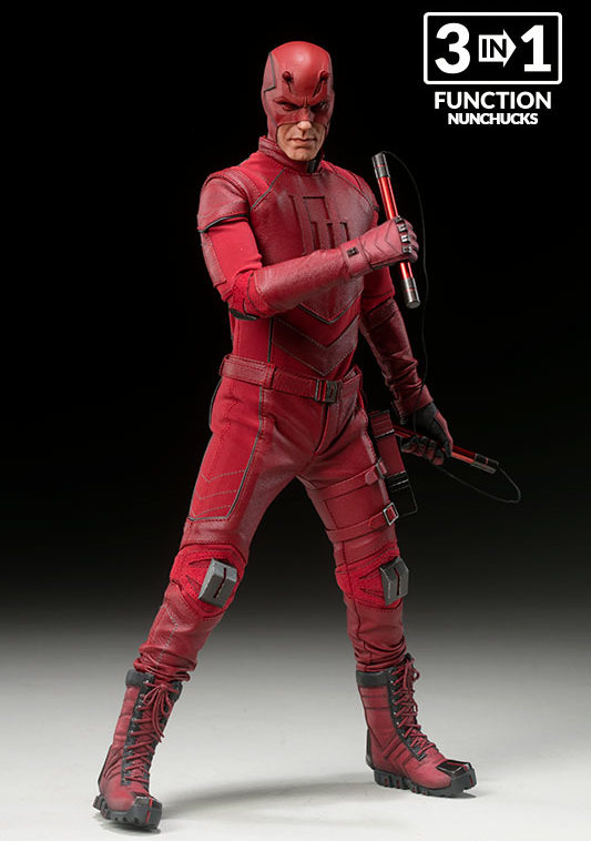Dardevil Sideshow Collectibles Figure Nunchucks