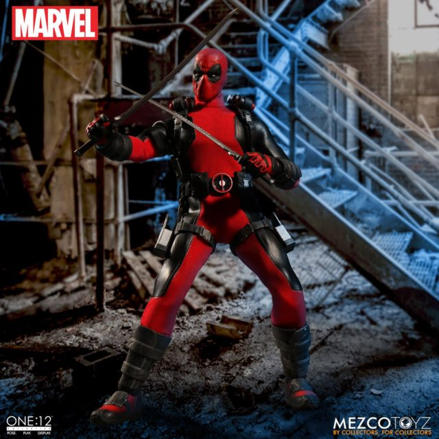 Deadpool ONE 12 Collective Mezco Figure with Katanas