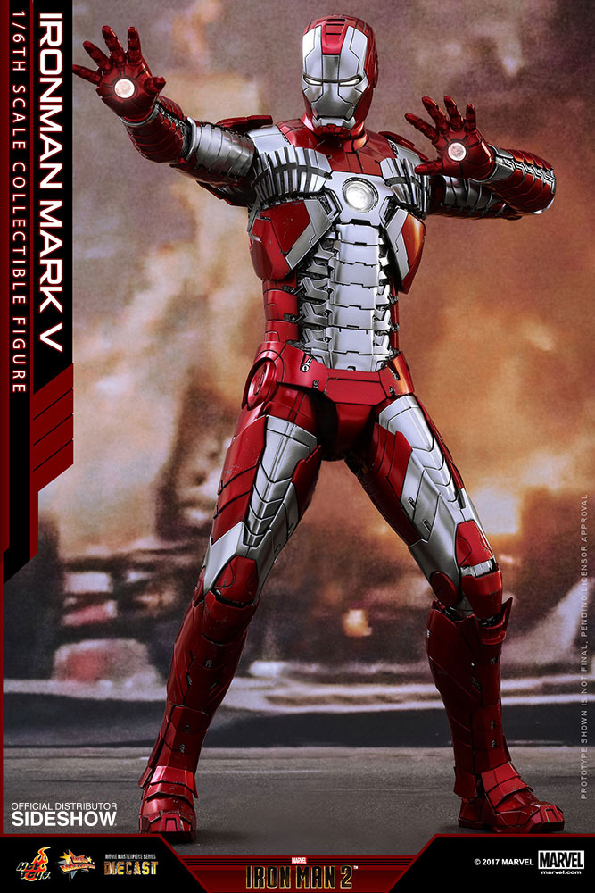 Iron Man 2: Hot Toys Iron Man Mark V Die-Cast Figure Up For Order