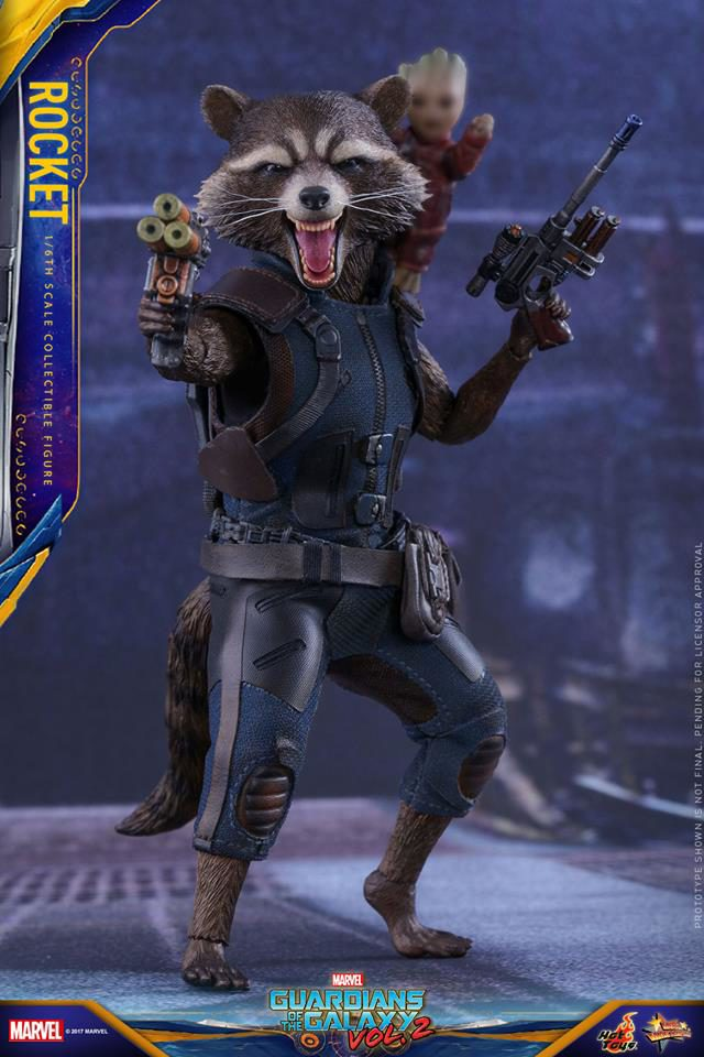Guardians of the Galaxy 2 Hot Toys Rocket Raccoon and Baby Groot Figures