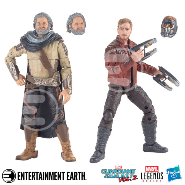 Guardians of the Galaxy Marvel Legends Ego & Star-Lord Figures Two-Pack