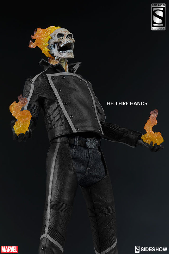 Hellfire Hands Ghost Rider Sixth Scale Figure Sideshow Collectibles