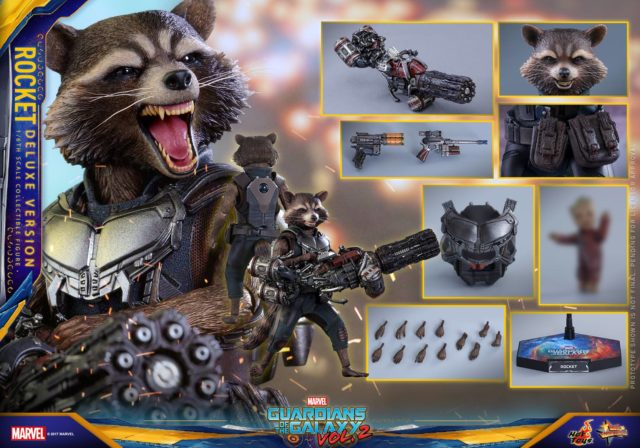 Hot Toys Deluxe Rocket Raccoon Figure and Accessories