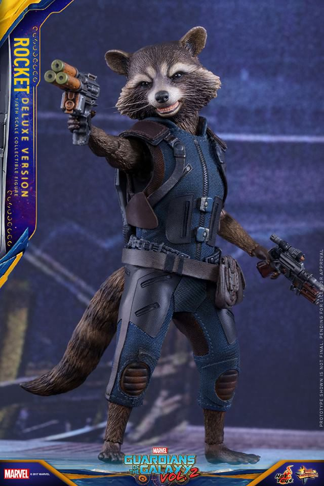 Hot Toys Deluxe Rocket Raccoon Sixth Scale Figure Closed Mouth Head