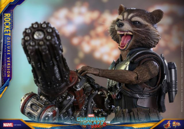 Hot Toys Guardians of the Galaxy 2 Rocket Raccoon Deluxe Figure with Machine Gun