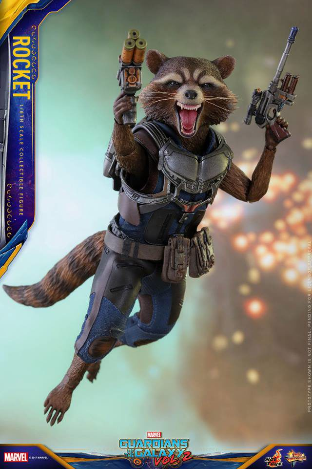 Hot Toys Guardians of the Galaxy Vol. 2 Rocket Raccoon MMS Flying Jetpack