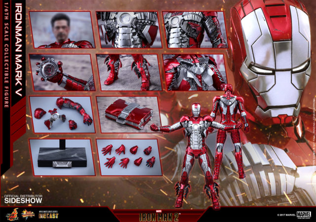 Hot Toys Iron Man Mark V Die-Cast Figure and Accessories