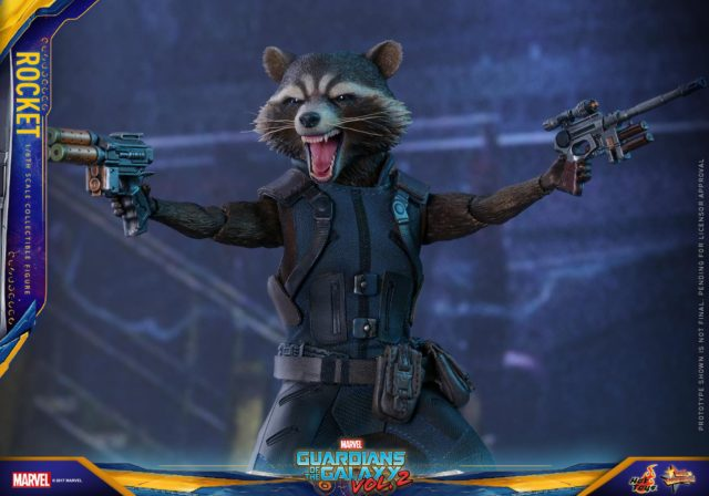 Hot Toys Rocket Raccoon Guardians of the Galaxy 2 Figure Guns