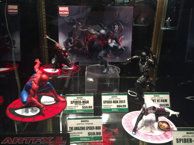 New York Toy Fair 2017 Kotobukiya Spider-Man ARTFX+ Series Figures
